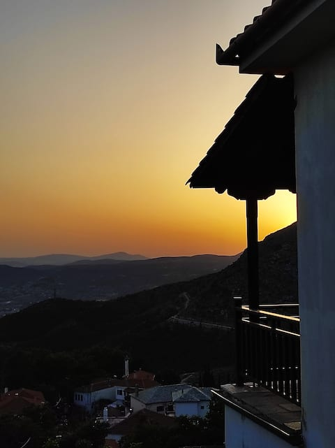 Traditional house with a view of Volos