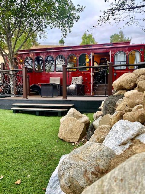 Unique romantic experience in a cozy trolley car!