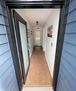 Flush door entry