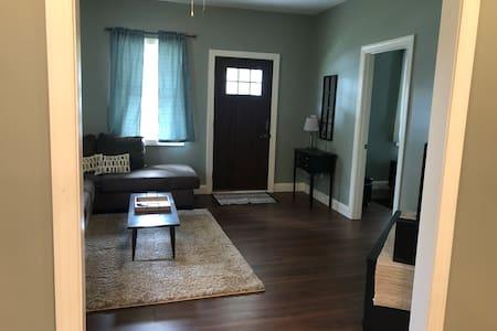The front and back door have wide openings as well as the bedroom/bathroom door.