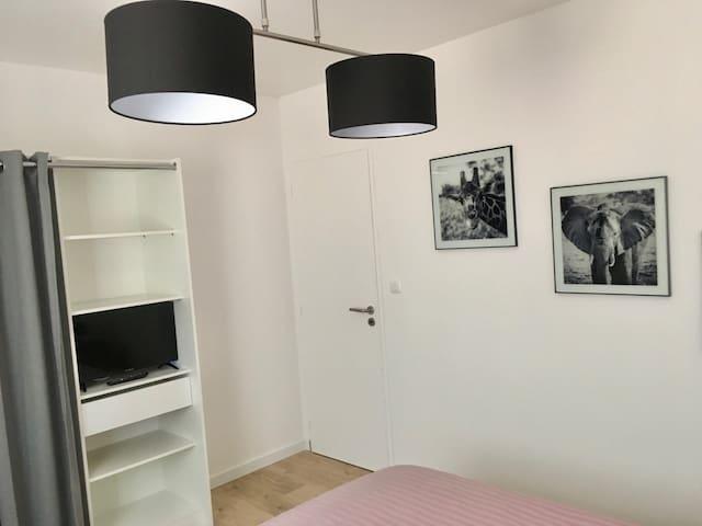 Chambre de 11m2 Lit 160X200 TV 60cm Netflix, Youtube Dressing