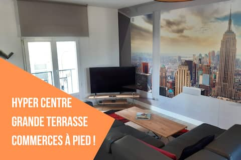 ★Appart neuf Le New-York View ★Commerces★Terrasse★