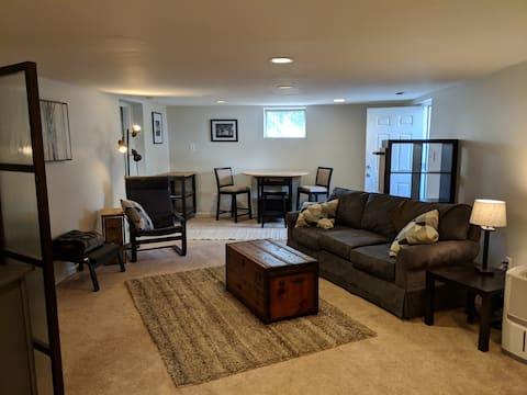 Private entrance basement 2 bdrm apartment in hous