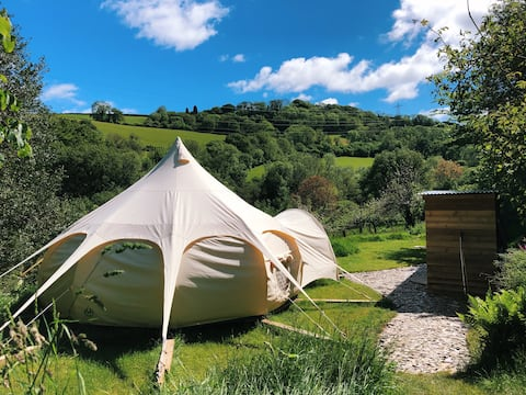 Moon orchard camping in luxury 5m lotus bell tent