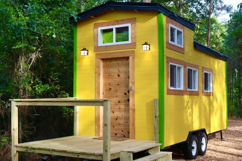 The Silly Lemon Tiny House by Lake Tobesofkee