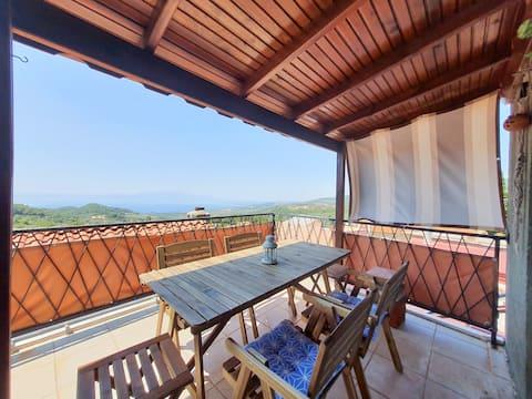 Aegean Sea View Terrace | Pingala Köy Evi