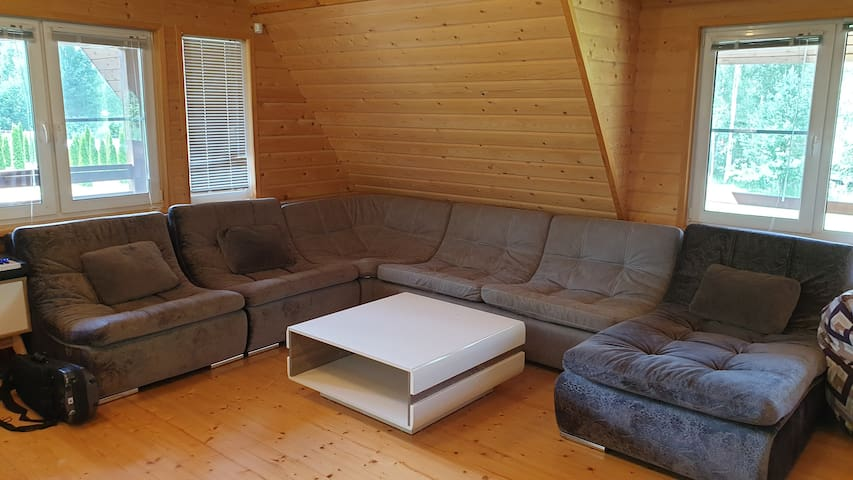 Мега-диван с раскладной двуспальной кроватью(французская раскладушка).