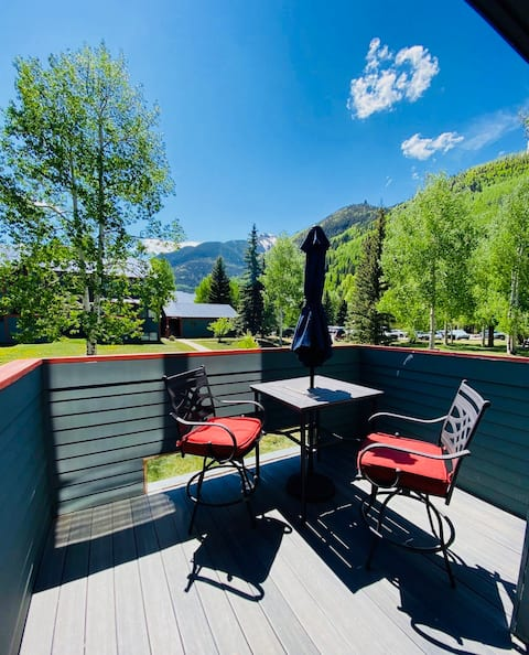 Beautiful mountain view condo in the heart of town