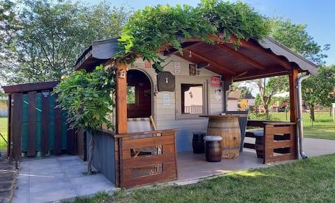 La p'tiote cabane entre vignes et Saône, Bourgogne