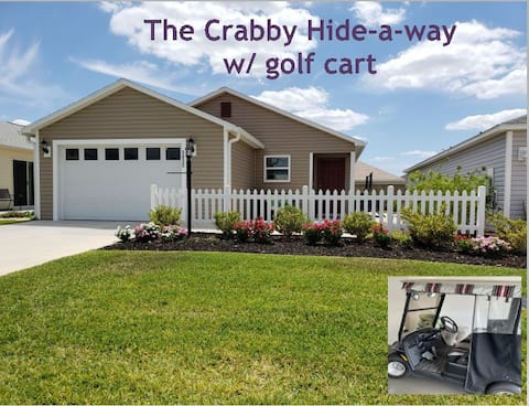 The Crabby Hide-a-way in The Villages, w/Golf Cart