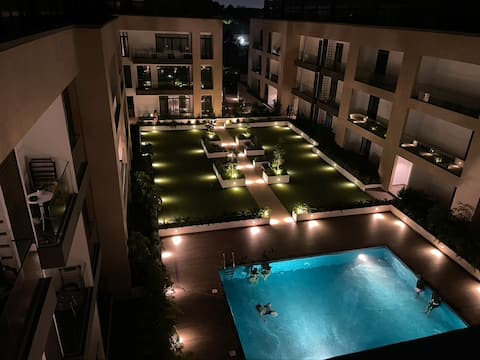 Lovely one bedroom duplex apartment with pool