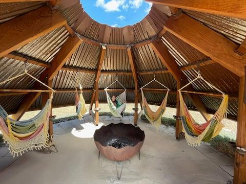 Mountain guesthouse w/ unique swing bar & sauna