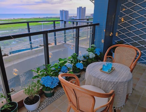16楼花园海景房,可做饭,近冠头岭、侨港、流下村、银滩,仅15分钟左右车程