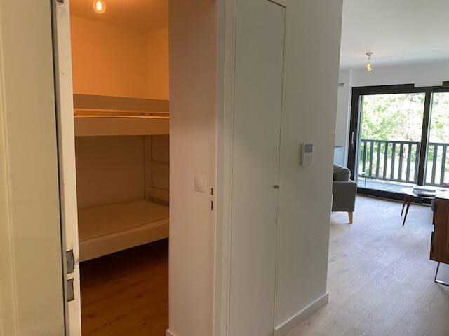 cabine avec les lits superposés