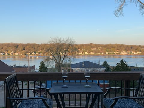Mississippi River and Downtown LeClaire views