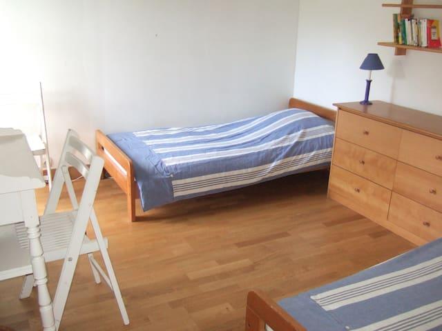 Chambre 2 : deux lits simples