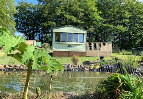 Delightful Caravan with Superb Views and Animals