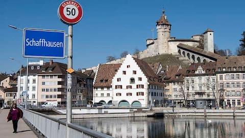 Nah am Rhein in Schaffhausen