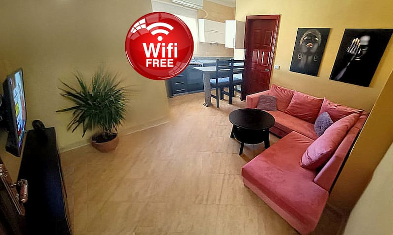 Welcome to MOON apartment with swimming pool and barbecue area , internet free