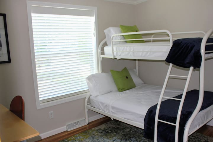 A full/twin bunk bed in the third bedroom is great for kiddos or a family.  The provided Pack-N-Play also makes this an ideal room for families to stay together.