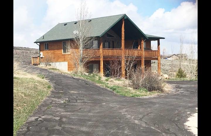 Cabin overlooking Bear Lake, Idaho