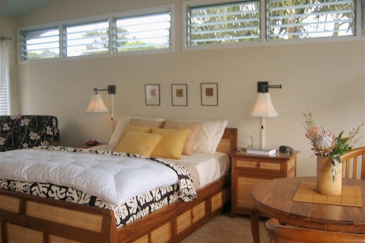 Wake up in comfy Queen size bed,  while looking out at the expansive Mountain Views.