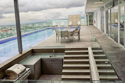 Apartamento con Hermosa vista y Piscina.