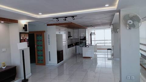 Furnished 1 Bed Two Bath, Living, Penthouse
