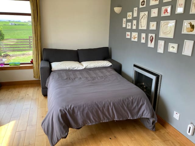 Livingroom with small double sleep sofa