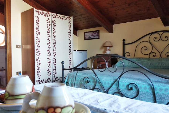 Romantic attic room with seaview