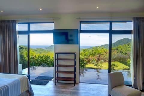 1-bdrm 1st floor unit + scenic views & pool access