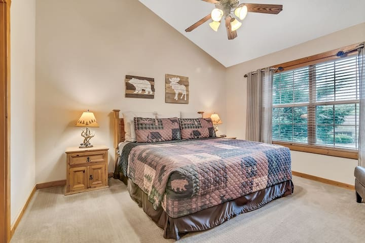 Vaulted ceilings and a king bed make this suite a sweet master!