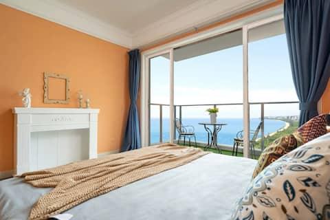 三亚湾椰梦长廊\摩洛哥风情之夜\高层躺在床上看海\南海观音\西岛\可免费接机