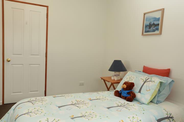 Bedroom 3 upstairs. Single room