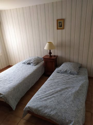 Chambre en rez-de-jardin