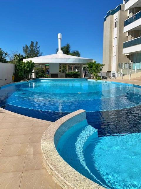 Apto 2 quartos em frente a ilha do Campeche