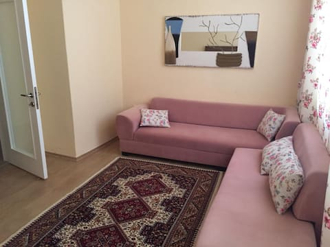 In the city center of Antalya fully equipped 1+1