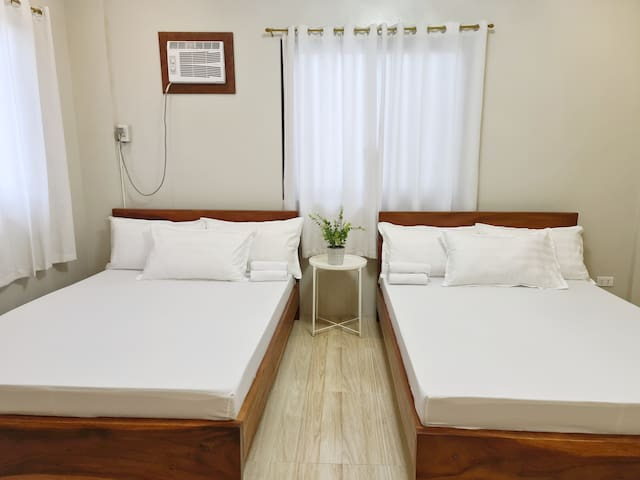 First bedroom is air conditioned and has 2 double sized bed.