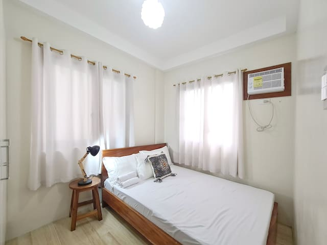 Second bedroom is air conditioned with double sized bed.