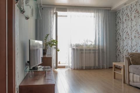 Двухкомнатная квартира в тихом центре