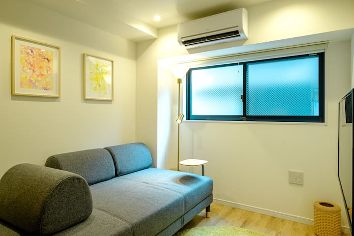 2nd bedroom with A/C unit.