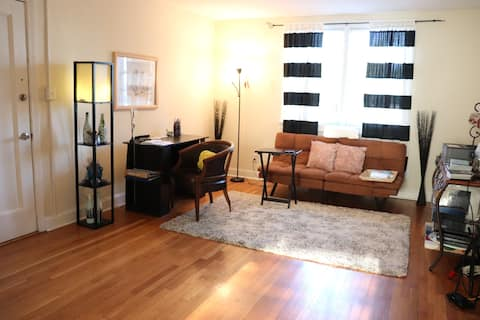 Entire Apartment in the City: Cute 1 Bedroom for 2