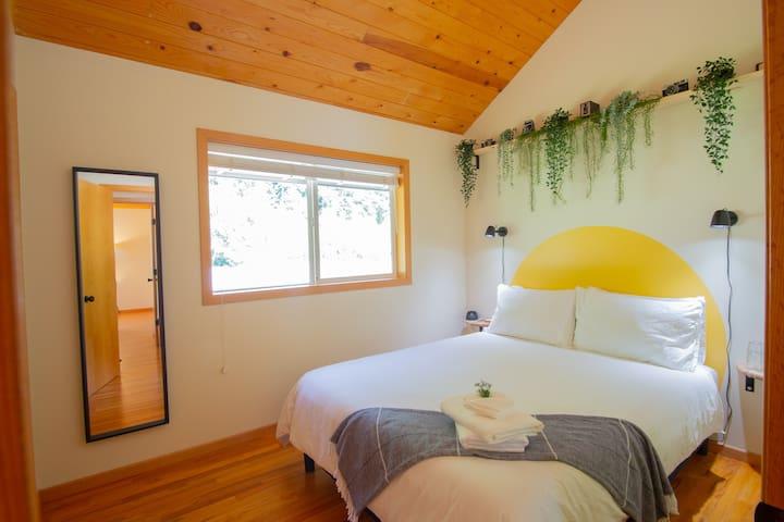 Second bedroom with queen size, comfy memory foam bed.