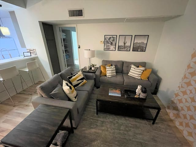 Spacious Living room area with all the comforts of home.