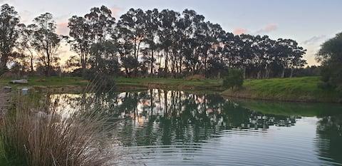 The Silk Farm BnB on the lake...