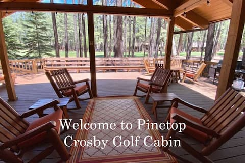 NEW!! Gorgeous Golf View- Crosby Cabin. Sleeps 9
