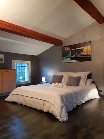 Mezzanine avec canapé BZ convertible en lit couchage 2 personnes