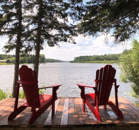 Tall Pine Point. Stunning waterfront cottage.