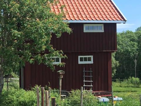 Stabbur med flott utsikt over Mjøsa og Hamar.