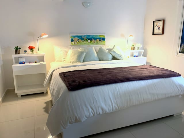 Room 1 with king-size bed